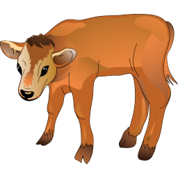 Painting of calf